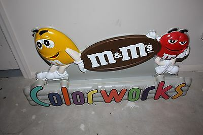 Rare M&M Color Works Store Display Sign from Candy Dispenser