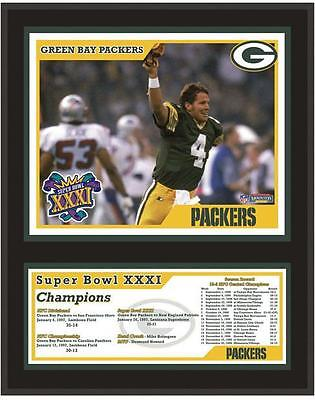 """Green Bay Packers 12"""" x 15"""" Sublimated Plaque Super Bowl XXXI"""