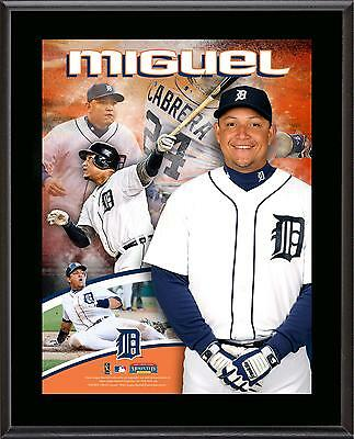 "Miguel Cabrera Detroit Tigers Sublimated 10.5"" x 13"" Plaque"