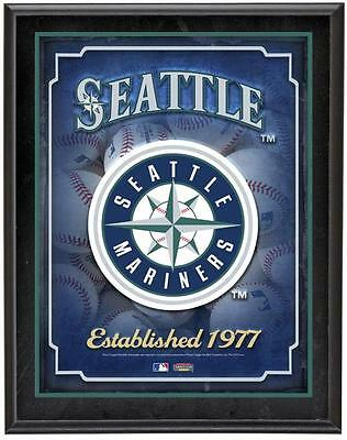 "Seattle Mariners Team Logo Sublimated 10.5"" x 13"" Plaque"