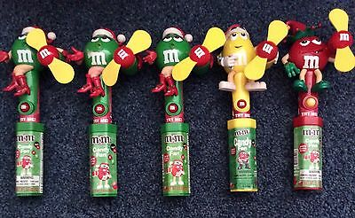 """Lot Of 5 M&M'S Christmas Candy Fans - """"NEW"""""""