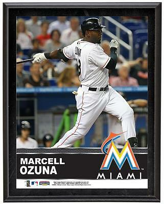 "Marcell Ozuna Miami Marlins Sublimated 10.5"" x 13"" Plaque"