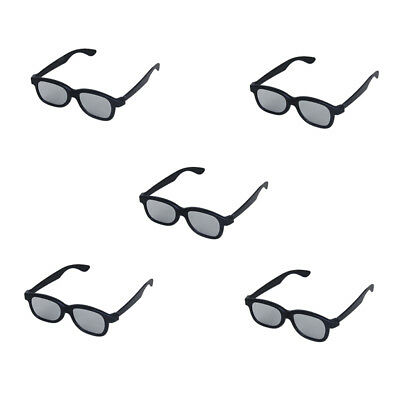 5pcs Black 3D Glasses For 3D Passive Panasonic Sony TVs Monitor Movie Cinema