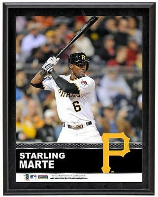 "Starling Marte Pittsburgh Pirates Sublimated 10.5"" x 13"" Plaque"