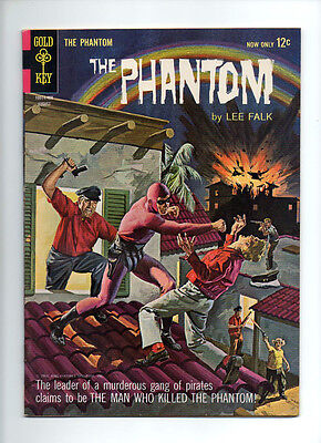 """Phantom #8 """"Pirate Battle"""" Painted Cover VF Dell/Gold Key comic"""