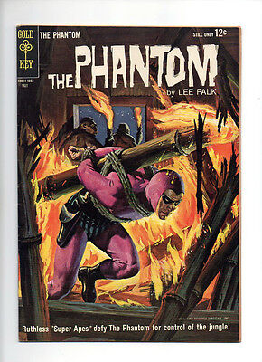 """The Phantom #7 """"Super Apes"""" Painted Cover VF Dell/Gold Key comic"""