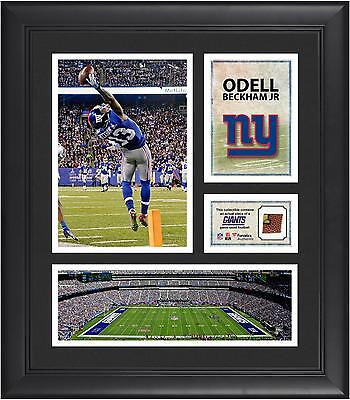Odell Beckham Jr. New York Giants Framed 15x17 Collage with Game-Used Football