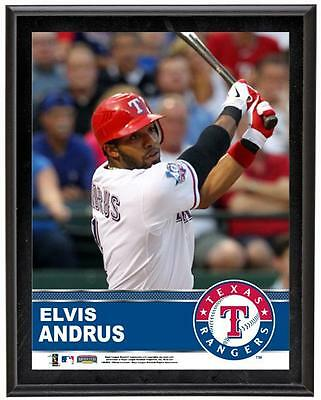 "Elvis Andrus Texas Rangers Sublimated 10.5"" x 13"" Plaque"