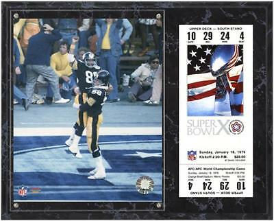 Pittsburgh Steelers Super Bowl X Lynn Swan Plaque with Replica Ticket