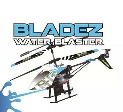 Bladez Toyz Water Blaster Remote Control RC Gyro Helicopter Rechargeable AA Gift