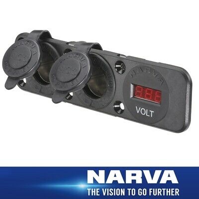 Narva HDRV Power Heavy-Duty Triple Flush Mount Twin Accessory / 12/24V DC LED Vo