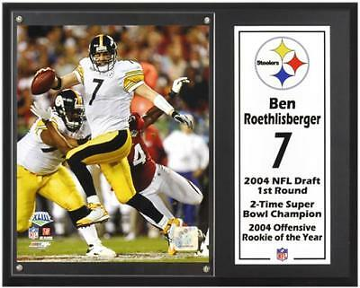 """Ben Roethlisberger Pittsburgh Steelers Sublimated 12"""" x 15"""" Player Plaque"""