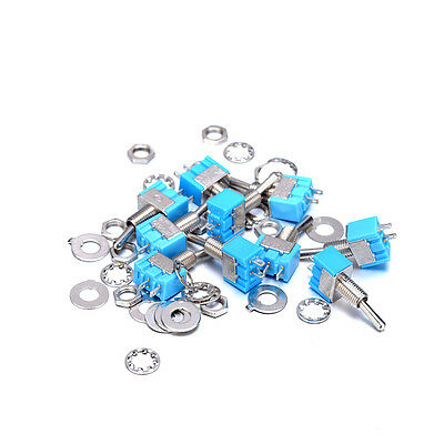 .Pack of 10 Mini Toggle Switches 2-Pin SPST ON-OFF 2 Position Switch 6A 125V