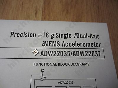 1pc Analog Devices AD22035Z high precision 18g single axis accelerometer   USA
