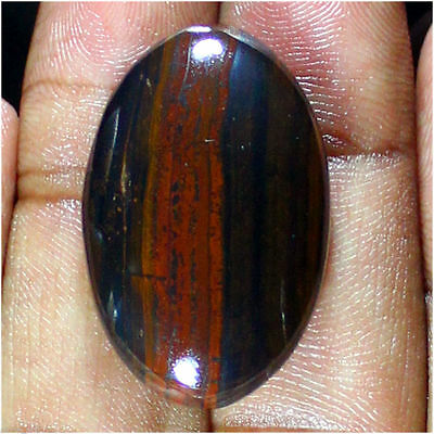 44.90 Ct 100% Natural Best Iron Tiger Oval Cabochon Loose Gemstone Stone_Artt