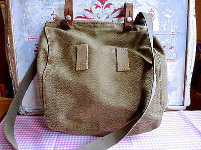 Vintage Swiss Military Canvas Bag - Swiss Army Small Carried Bag - Army Bag