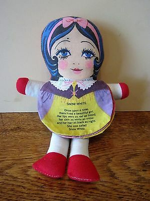 "Vintage ""snow White"" Book Doll With 5 Faces"