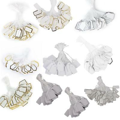 500 Pcs Label Tie String Strung Jewelry Merchandise Paper Price Tags Retail Accs