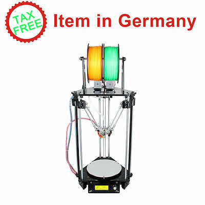 Tax free! 3D imprimante double extrudeuse Auto Level Kossel Delta Rostock G2s