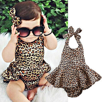 US-STOCK Toddler Baby Girl Clothes Bodysuit Romper Suit Jumpsuit Playsuit Outfit
