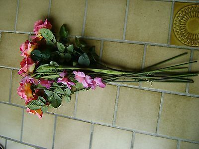 Bouquet de 7 roses artificielles H 80cm