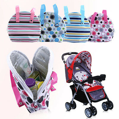 Baby Kids Thermal Insulation Feeding Water Bottle Warmer Stroller Organizer Bag