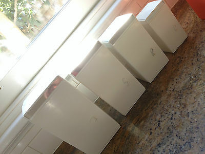 """Collectable Vintage Retro Mid Century """"nally"""" Canisters Gc"""