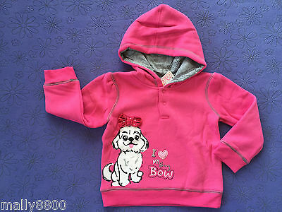 "BQT - Girls - Hoody - Hooded Jumper - ""DOGGY, DOG PUPPY"" - Size 00, 0, 1"