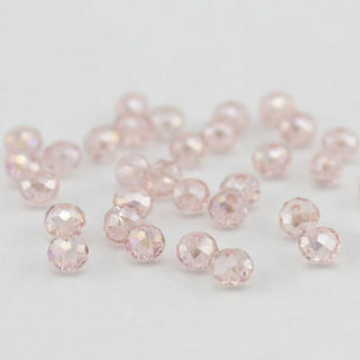 New face 72PCS 6X8MM pill crystal ----pink AB