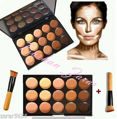 new 15 Color Concealer and contour  with Brush Face cream Makeup, Palette #2