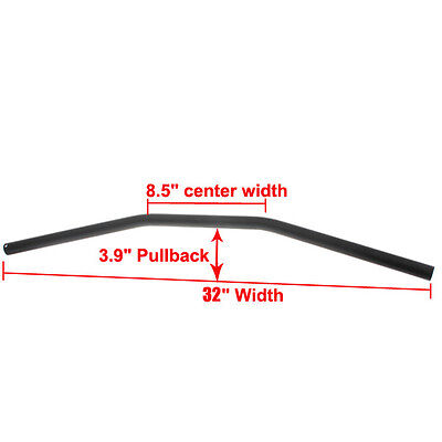 "7/8"" Black 80cm Motorcycle Handlebars Drag Bar For Harley Honda Suzuki Yamaha"