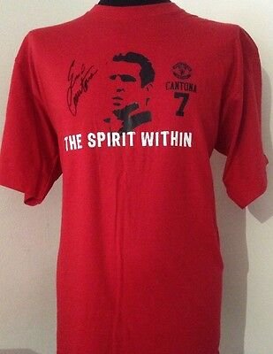 Manchester United Spirit Within Shirt Signed By Eric Cantona With Guarantee