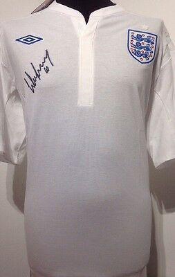 England Shirt Signed By Wayne Rooney With Letter Of Guarantee
