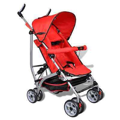 S# Red Baby Stroller Pram Kid Toddler Child Jogger Bassinet Wheel Seat 5 Positio