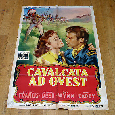 CAVALCATA AD OVEST manifesto poster May Wynn Donna Reed Western They Rode West