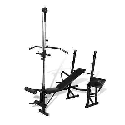 S# New Fitness Workout Bench Multi Station Weight Press Situp Home Gym Exercise