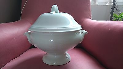 Ancienne Soupiere Blanche Numerotee D 3 Vegetable Covered Tureen Chic