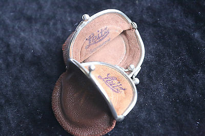 Rare E.leitz Leather Filter/accessory Cases, C1935 Two Cases, Purse Type Opening