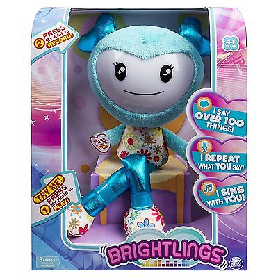 Brightlings, Interactive Singing, Talking 15 Plush, Teal, By Spin Master