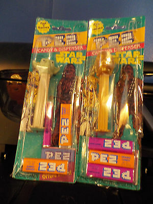1997 Star Wars Yoda & C3PO Pez dispensers New Taped Packages