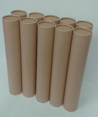 Luxury Butt-Jointed Cardboard Tubes Spiral Kraft Outer 425mm x 76mm Box of 10