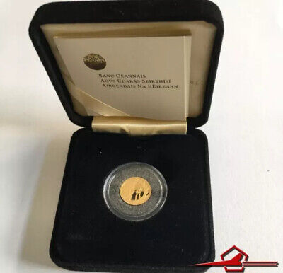 IRISH COMMEMMORATIVE GOLD COINS. 20€. SAMUEL BECKET, 2006. With Box.
