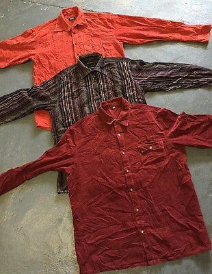 Wholesale Vintage Retro Cord Shirt Plain Striped X 40 LAST LOT