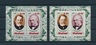 LF43719 Malawi 2011 Pasteur Lister  perf/imperf sheets MNH