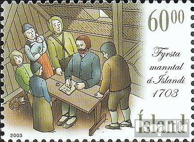 Iceland 1044 mint never hinged mnh 2003 Census