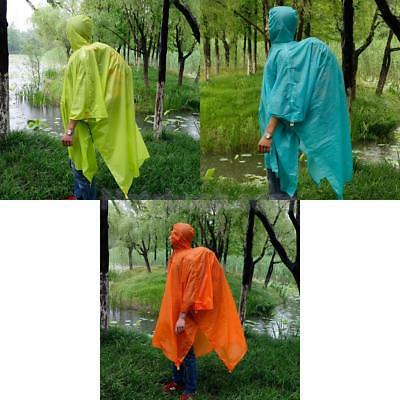 Multifunction Outdoor Raincoat Poncho Mountaineer Tent Mat Cloth Backpack Cover