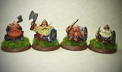 Painted 28mm Norse Dwarves X 4