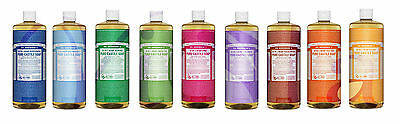 Dr Bronner Organic Moisturising Pure Castile Liquid Natural Vegan Soap 946ml