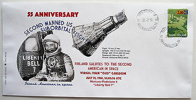 FDC cover space Gus Grissom 55 anniversary Mercury flight, Finland