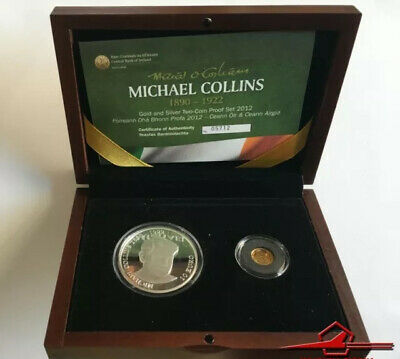 "Irish Commemmorative Coins. Michael Collins. Gold & Silver ""proof"" Set 2012"